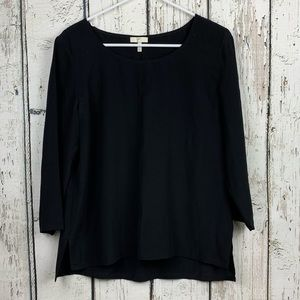 {Joie} Black 100% silk blouse size Small